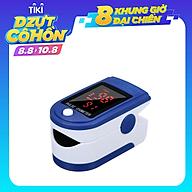 Máy đo nồng độ oxy, SpO2, nhịp tim, độ bão hòa bằng xung đầu ngón tay với màn hình LED Fingertip Clip Pulse Oximeter L-ED Display Mini SpO2 Monitor Oxygen thumbnail