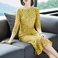 Fashionable and elegant mid-length three-quarter sleeve slim dress thumbnail