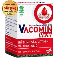 Viên Uống Bổ Sung Sắt (Fe) Cho Người Có Nguy Cơ Thiếu Máu Kết Hợp Acid Folic, Vitamin C, E, B6 - TPCN Shinpoong Vacomin Hevit Hộp 100 Viên thumbnail