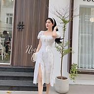Đầm Maxi Hoa Nhíu Ngực Thắt Nơ Xẻ Đùi - Hậu Nguyễn Store thumbnail
