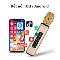 Micro Karaoke Bluetooth không dây đa chức năng Đôi loa kép Mic hát Karaoke di động thông minh cho điện thoại di động - Hàng Chính Hãng PKCB thumbnail