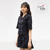 Set áo vest nữ xanh than dáng ngắn TB018 La Mia Fashion Design thumbnail