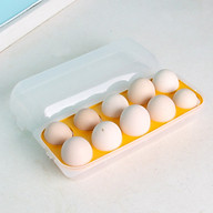 Khay Đựng Trứng chia 10 Ngăn có Nắp Đậy Nhật Bản thumbnail