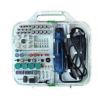 Bộ 161 phụ kiện máy khoan mài khắc đa năng (Tặng kèm quạt mini cắm cổng USB vỏ nhựa giao màu ngẫu nhiên) thumbnail