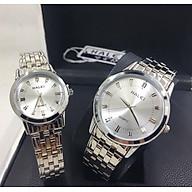 Cặp đồng hồ Nam Nữ Halei - HL502 Dây Bạc thumbnail