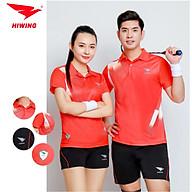 Quần áo cầu lông cao cấp thương hiệu HIWING W1 màu đỏ thumbnail