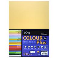 Tập Giấy Màu CAMPAP CR36553 - Tập 10 Tờ - Khổ A4 - Màu Vàng thumbnail