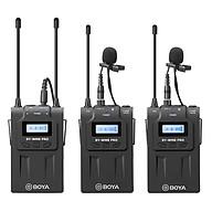 Micro Thu Âm Wireliess UHF Boya BY-WM8 PRO-K2 (Bộ Thu 2 Micro) - Hàng Nhập Khẩu thumbnail