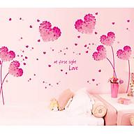 Decal Dán Tường Pink Heart AY9273 thumbnail
