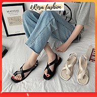 Giày Sandal nữ xỏ ngón hàn quốc đế bệt - SD 0296 thumbnail