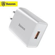 Baseus QC Single U Quick Charger USB Wall Charger One-Port 18W USB Phone Charger Power Adapter Compatible with iPhone thumbnail