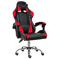 BG Ghế chơi game cao cấp dành cho các game thủ, chân xoay ngã 135 độ Mẫu E02N01 màu đỏ phối đen (Hàng nhập khẩu) thumbnail
