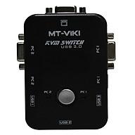 USB KVM Switches 2 ports MT- VIKI ( 2 Cây dùng 1 màn hình) - Hàng Chính Hãng thumbnail