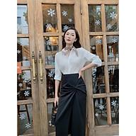 Chân váy đen công sở [HÀNG THIẾT KẾ Flane] cách điệu xoắn eo cho quý cô công sở thumbnail