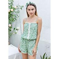 Đồ mặc nhà Bộ ngắn áo dây nữ Tvm Luxury Homewear B539 thumbnail