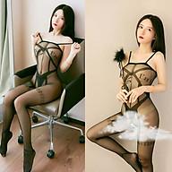 Đồ Ngủ 2 Dây Lưới Mịn Liền Thân Xuyên Thấu Hở Đáy Sexy Bodystock Erotic Lingerie Nightwear Brave Man BCS21 55 thumbnail