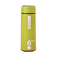 Bình Đựng Nước Giữ Nhiệt đa năng bọc nhựa chống nóng an toàn tiện dụng 450ml - Giao màu ngẫu nhiên thumbnail