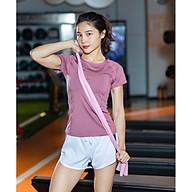 Áo thể thao nữ áo yoga ngắn tay vải khô nhanh phiên bản Hàn Quốc DX-034 thumbnail