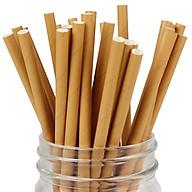 Ống hút giấy nâu dùng 1 lần thân thiện với môi trường.Sử dụng cho mọi loại đồ uống giải khát, nước ngọt, trà, cà phê thumbnail