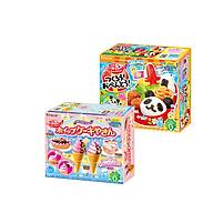 Combo 2 hộp kẹo Popin Cookin đồ chơi ăn được gồm Kem Chocolate + Sushi Cơm Bento Bánh Donut thumbnail