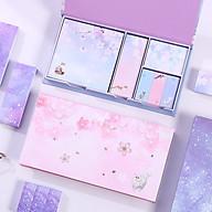 Hộp 6 tập giấy note màu hình hoa (giao màu ngẫu nhiên) thumbnail