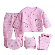Set 5 món cho bé bé gái màu hồng thumbnail