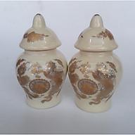 Đôi hũ thờ gạo muối bằng sứ bát tràng BH609 thumbnail