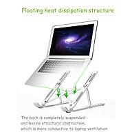 Giá Đỡ Laptop Hợp Kim Nhôm Cao Cấp Giúp Tản Nhiệt Có Thể Điều Chỉnh Góc Độ - Hàng chính hãng thumbnail
