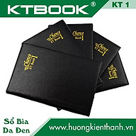 Gói 10 cuốn Sổ ghi chép Bìa Da Đen cao cấp KT 1 dòng kẻ ngang khổ A7 - 80 trang thumbnail