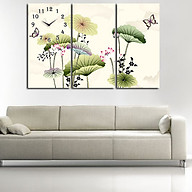 Tranh treo tường, tranh đồng hồ NT169 bộ 3 tấm ghép thumbnail