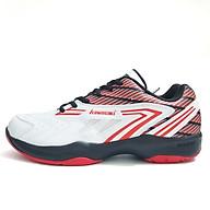 Giày bóng chuyền, bóng bàn nam nữ chuyên dụng Kawasaki K082 màu trắng phối đen đỏ, Da PU đế kép 2 lớp, bám sàn cực tốt - phân phối chính hãng thumbnail