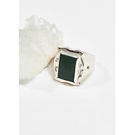 Nhẫn bạc nam đá ngọc bích Ni22 mệnh hỏa , mộc - Ngọc Quý Gemstones thumbnail
