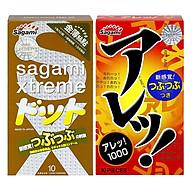 Bộ Bao Cao Su Siêu Mỏng Co Dãn Sagami Xtreme Feel Up (10 Bao) Và Bao Cao Su Mỏng Co Dãn Sagami Are Are (10 Bao) thumbnail