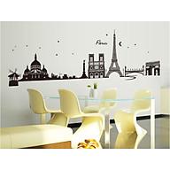 decal dán tường thành phố pari đen cc6912 thumbnail