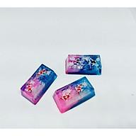 Keycap artisan cá koi 2u tone hồng xanh trang trí bàn phím cơ thumbnail
