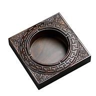 Gạt tàn thuốc lá 4 chữ FU LU SHOU XI gỗ mun tự nhiên nguyên khối đục CNC chống cháy thumbnail