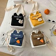 Túi tote vải mini đeo chéo vải canvas mềm đẹp giá rẻ thumbnail