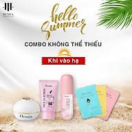 Combo 4 Món Dưỡng Da Chống Nắng Cho Mặt Và Body Vào Hè Cho Phái Đẹp Đến Từ Hemia Hàn Quốc thumbnail