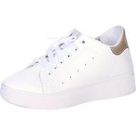 Giày Sneakers Thể Thao Nữ Màu Trắng Đế Cao thumbnail