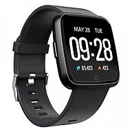 Đồng hồ thông minh theo dõi sức khỏe smartwatch Colmi Y7P dây cao su (Đen) - Hàng chính hãng thumbnail