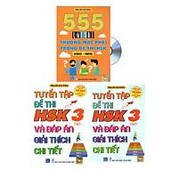 Combo 3 sa ch Bộ đề tuyê n tâ p đê thi năng lực Hán Ngữ HSK 3 va đa p a n gia i thi ch chi tiê t +555 Lô i sai thươ ng mă c pha i trong đê thi HSK (HSK 3 đê n HSK 5)+ DVD ta i liê u thumbnail
