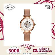 Đồng hồ nữ Fossil Carlie Mini Automatic dây thép không gỉ ME3188 - màu rose gold thumbnail