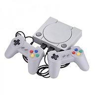 Máy chơi game điện tử 4 nút 648 trò 2 tay cầm gamer psp 2 người chơi có game 16 bit kết nối tivi 4K cổng kết nối HDMI (Màu xám ) thumbnail