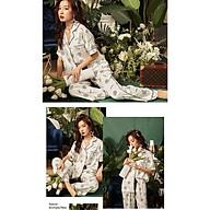 Bộ Đồ Mặc Nhà Đồ Ngủ Pijama Lụa Cao Cấp Siêu Mát Mềm Mịn - ELSA thumbnail