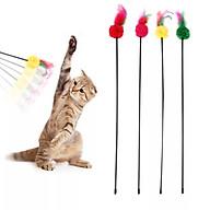Cây Đồ Chơi Chọc Mèo Bằng Nhựa Có Lông Gà Đa Màu Sắc Dài 60cm Giao Màu Ngẫu Nhiên SP000508 thumbnail