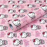 Cuộn 5m Decal Giấy Dán Tường Kitty hồng dễ thương (5m dài x 0.45m rộng) thumbnail