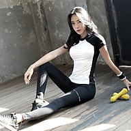 Bộ Quần Áo Tập Gym, Yoga Nữ Đẹp Cao Cấp, Vải Co Dãn Đa Chiều, Thiết Kế Mặc Sang Tôn Dáng - HK27 thumbnail