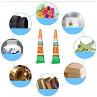 Keo dán đa năng Super glue siêu dính , lên mọi chất liệu gỗ, nhựa, đồ gốm, kim loại, da , móng tay an toàn khi sử dụng thumbnail