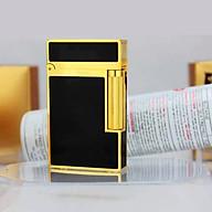 Hột Quẹt Bật Lửa Dùng Gas Đá Sơn Mài Trơn Sang Trọng Lịch Lãm Cho Phái Nam (Đen Vàng) thumbnail