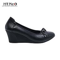 Giày nữ trung niên HT.NEO da bò cao cấp siêu mềm và êm chân kiểu dáng lịch sự đứng đắn rất hợp người trung tuổi NU05-NDA thumbnail